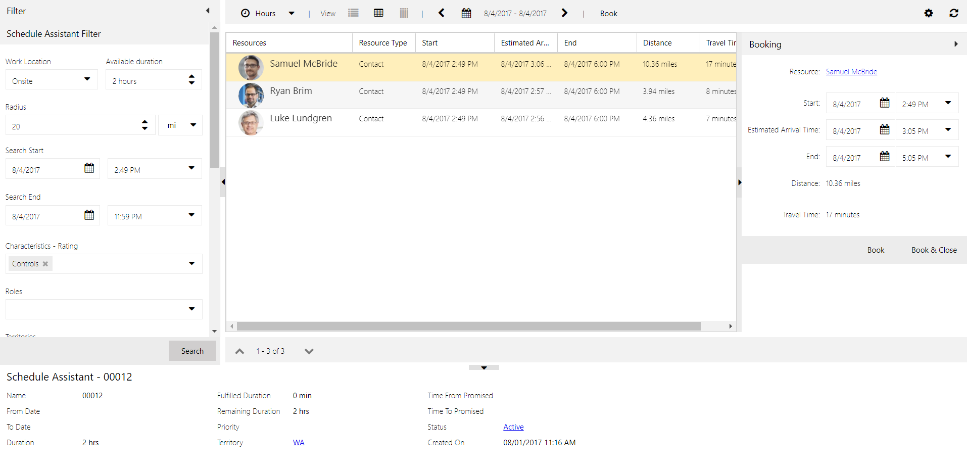 How To Schedule in Dynamics 365 for Field Service