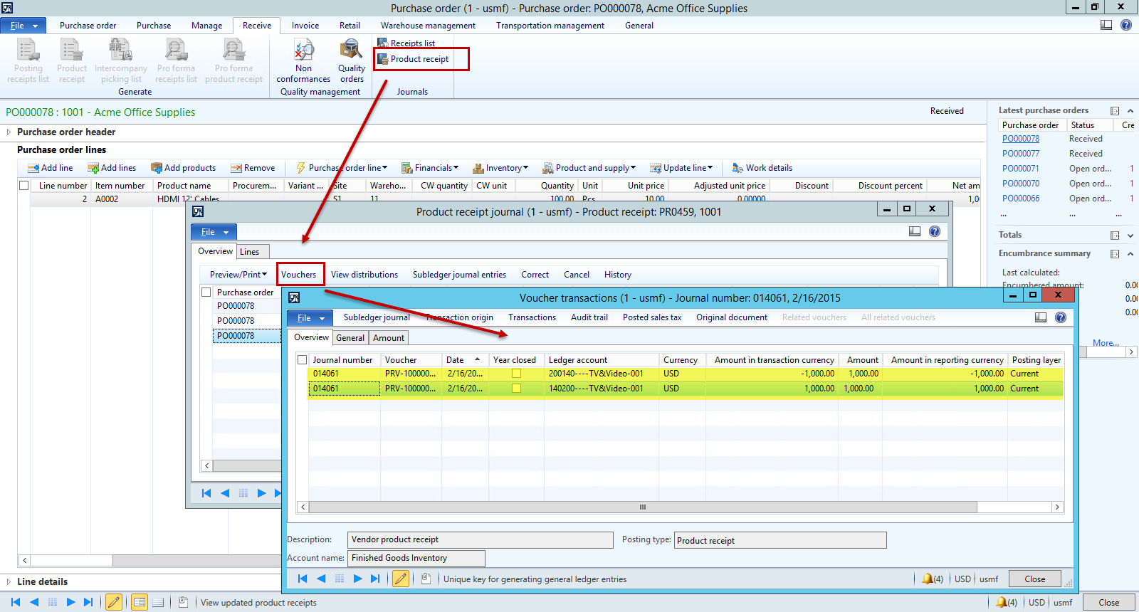 Dynamics AX Purchase Order Invoice When Product Receipt is Higher ...
