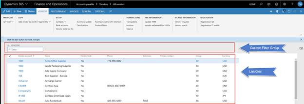 How to Personalize a List Page in Dynamics 365 for Finance