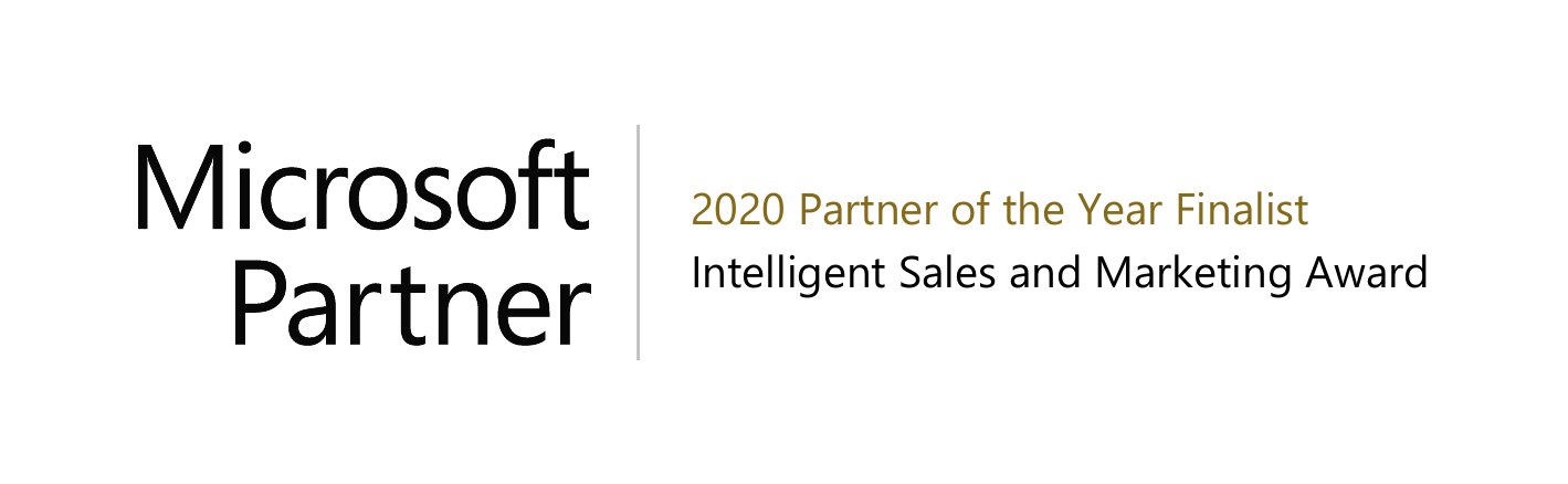 Microsoft Partner - 2020 Partner of the year finalist - Intelligent sales and marketing award